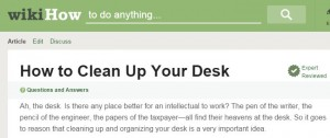 How to Clean up your Desk